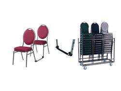STAPELBARESTOELEN_Stapelbare stoelen met transportkar